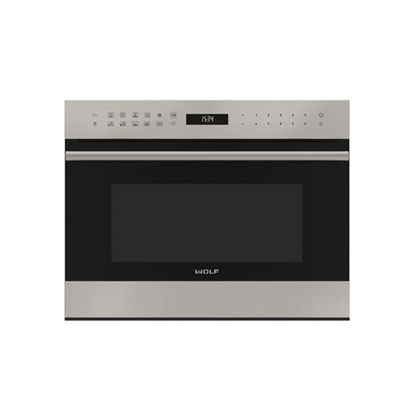 wolf - ICBMDD24TE_S_TH-MICROWAVE-DROP-DOWN-DOOR-TRANSITIONAL-E-SERIES-600MM