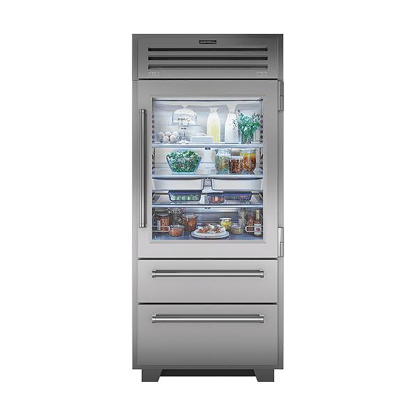 subzero - 914mm Ultimate Professional Refrigerator Freezer With Glass Door